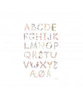 Plakat - Dansk alfabet A3