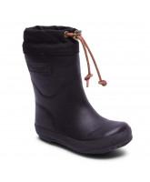 Sorte termo vintergummistøvler