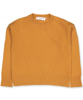 Golden yellow uld striktrøje