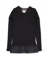 Organic black bluse