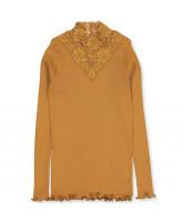 Organic golden mustard bluse