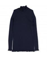 Organic navy bluse