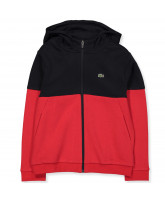 Rød zip sweat