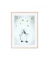 The beautiful duckling plakat 30x40 cm