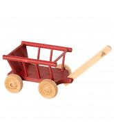 Rød trækvogn - micro