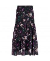 Floral maxi mesh nederdel