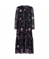 Floral maxi mesh kjole