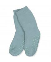 Dusty blue non-slip strømper