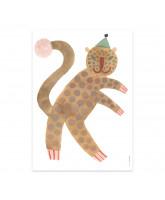 Leopard Elvis plakat - 50x70 cm