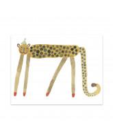 Smiling Leopard Elvis plakat - 30x40 cm