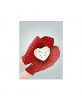 Snow heart kort
