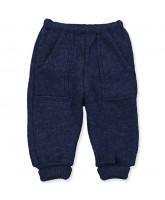 Navy uld fleece bukser