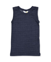 Navy uld/silke undertrøje