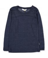 Navy uld/silke bluse