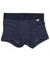 Navy uld /silke boxershorts