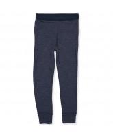 Navy uld/silke leggings