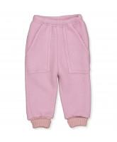 Rosa uld fleece bukser