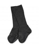 Mørke grå non-slip uld strømper