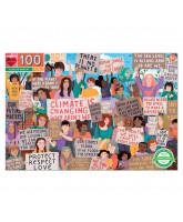 Puslespil 100 brikker - Klimamarch