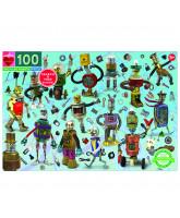 Puslespil 100 brikker - Robotter