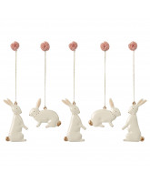 5 stk easter bunny ornaments