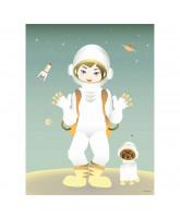 The Astronaut plakat - 30x40 cm