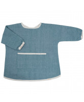 Organic Chambray blue spiseforklæde