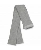 Grey melange rib leggings