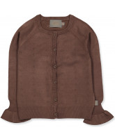 Cocoa brown pointelle cardigan
