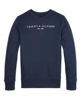 Organic blå sweatshirt