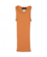 Dusty orange silke top