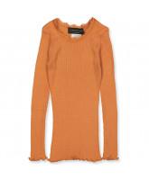 Dusty orange silke bluse