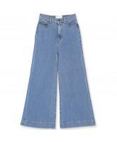 Organic Bellis blue wide jeans