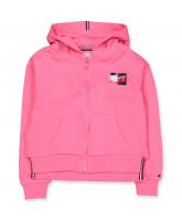 Organic pink zip sweat
