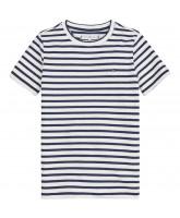 Organic stribet t-shirt