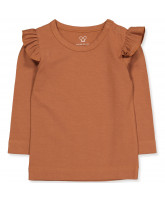 Milano frill bluse - silk touch
