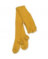 Mustard rib strømpebukser