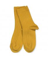 Mustard rib strømper