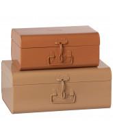 2 pak pudder/rosa kufferter
