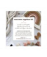 Macrame regnbue rose DIY kit