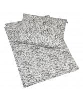 Organic grey leaf sengetøj