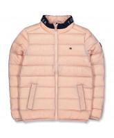 Pink dun jakke