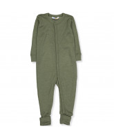 Mørke grøn uld/silke heldragt