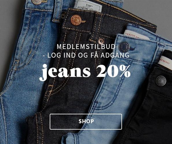 My House medlemstilbud, 20% på alle jeans for klubmedlemmer