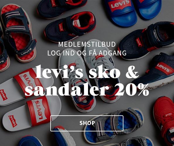 20% på levi's sko og sandaler som medlem af My House